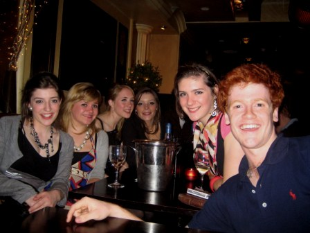 me with 13 girls in a pub