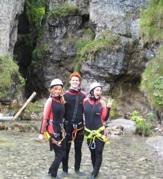 Canyon Jumping with the Girls