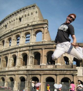 Jumping at the Colloseum